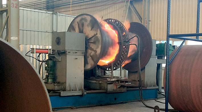 Corrugated furnace